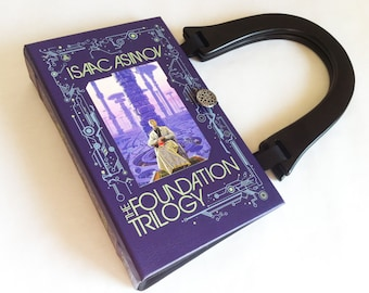 Isaac Asimov The Foundation Trilogy Book Purse - Aliens Follower Gift - Science Fiction Accessory - Geeky Girl Gift - Purse made from a book