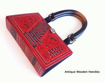 Dracula Book Purse - Dracula Book Clutch - Bram Stoker Pocketbook - Vampire Collector Gift - Horror Genre Gift - Vampire Costume Accessory
