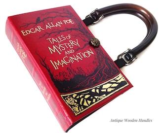Edgar Allan Poe Book Purse - The Raven Book Purse - Halloween Accessory - Horror Reader Gift - Book Lover Gift - Poe Book Clutch - Book Bag