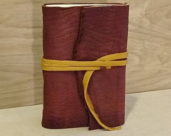 """Buffalo 9 x 6"""" book with tie - great for dreams, travel stories and sketching"""