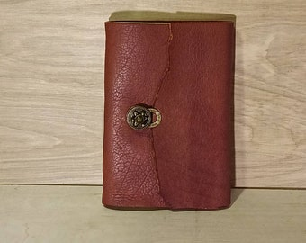 """Brown buffalo 9 x 6 """" Journal Sketchbook with turn latch - 80 lb paper ph neutral"""