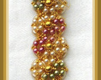 Bead Tutorial - Kamaria bracelet  - Right angle weave and netting stitch