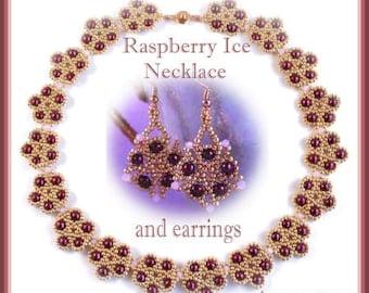Beading tutorial - Raspberry Ice necklace - netting stitch