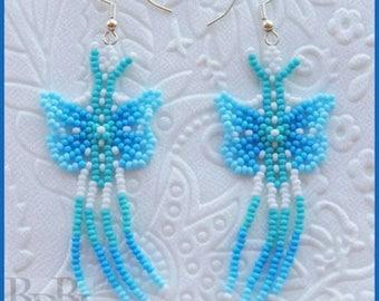 Bead Tutorial - Huichol Butterfly Earrings