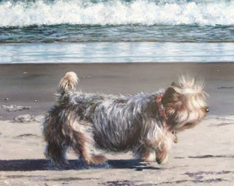 Original Acrylic the Routine Life of a Gloucester Dog