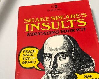 Witty and Hilarious Great Gift For All Lovers of Books Regular Size 16x20 inches Shakespeare Insults Gift Poster