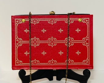 Gorgeous Book Purse-Pride and Prejudice-Gift for Jane Austen Lover-Red and Gold