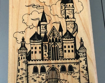 Castle Turret Tower Solid Rubber Stamp for Stamping Crafting Planners