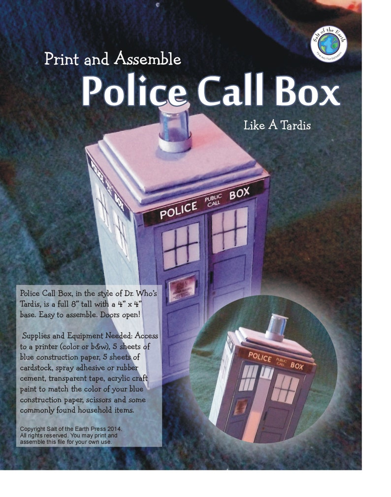 Police Call Box - Printable Instant Download