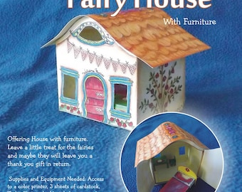 Instant Download - Printable Fairy House with Furniture