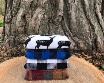 Flannel Tissue Cozy, Tissue Holder, Stocking Stuffer, Buffalo Plaid, Buffalo   Check, Teacher Gift, Mailman Gift, Pouch, Travel Tissue, Gift