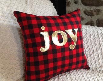 Decorative pillow, Throw Pillow, Cushion, Gifts Under 30, Lodge Decor, Rustic Pillow, Buffalo Plaid Pillow, Christmas Pillow, Cabin Decor