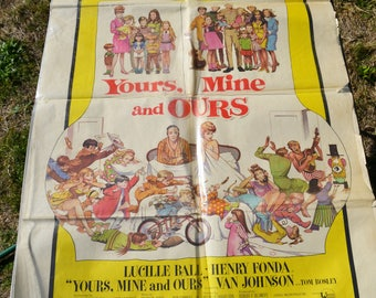"Vintage 1968 ""Yours Mine & Ours"" Numbered Movie Poster"