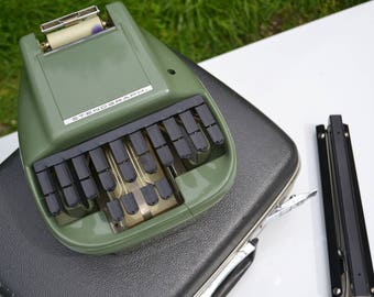 Vintage Stenograph, Reporter Model, Shorthand Machine, WORKING