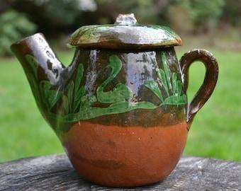 Vintage Mexican Chocolate Pot, Patamban Pottery