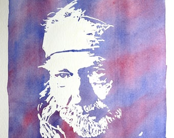 Willie Nelson Watercolor Painting