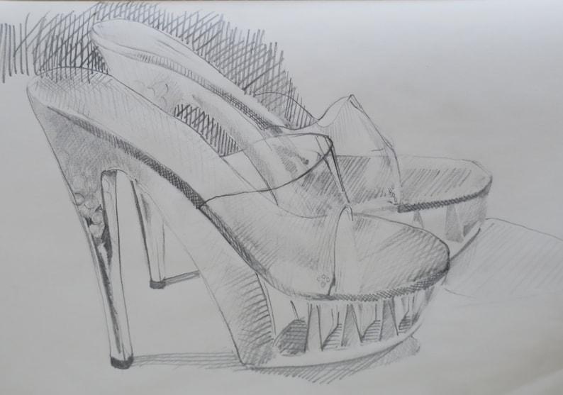 Chaussures Croquis Haut Dessin Talon ChaussureEtsy wXiZTlPkOu