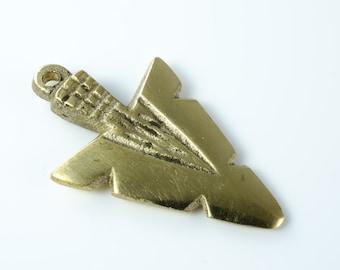 Brass Arrow Head Pendant