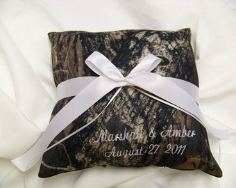 PERSONALIZED Mossy Oak Breakup Bridal Bride Ring Bearer Pillow Camouflage Wedding All accessories