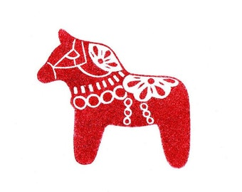 Beautiful Dala Horse Rubber Stamp,  Christmas Stamp, Scandinavian Horse Stamp, Hand Carved Stamp,Horse Theme Party, Christmas, Soap Stamp