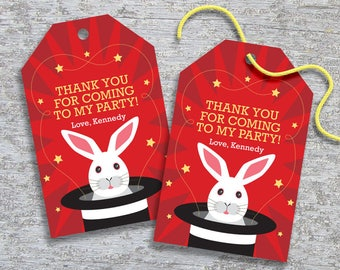 Personalized Magic Party Favor Tags – DIY Printable – Hang Tags (Digital File)