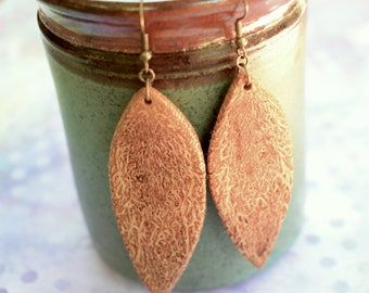 One of a kind Natural wood earrings
