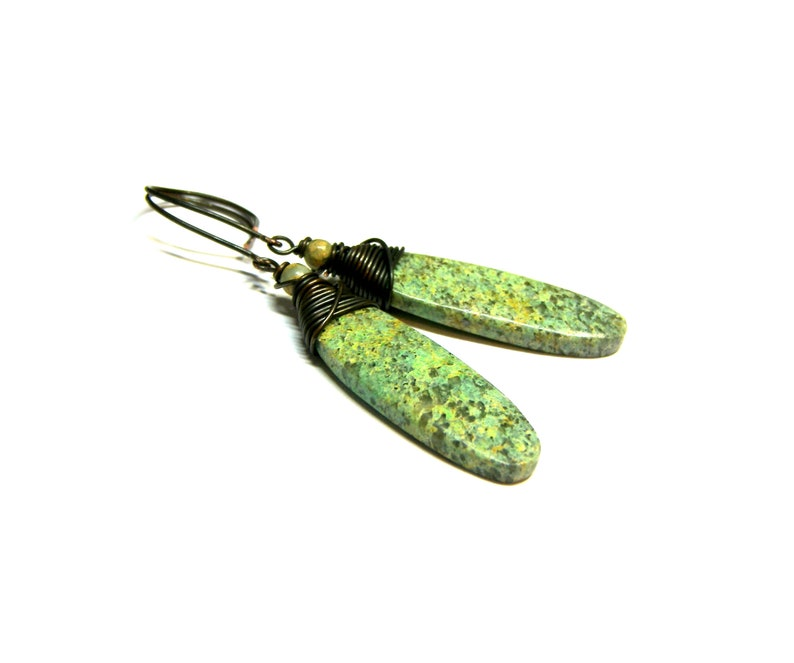 Chrysocolla wrap Earrings