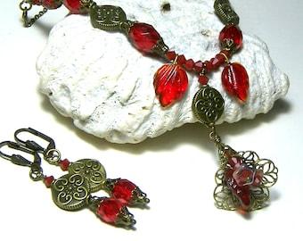 Ruby Red Jewelry Set
