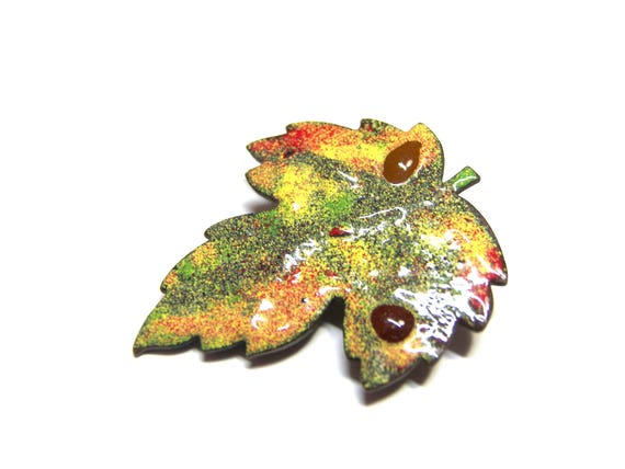 Rainbow Leaf Pin
