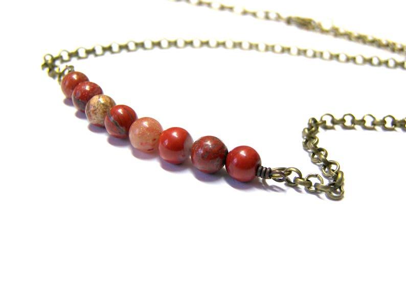 Red Jasper Choker Necklace On Sale