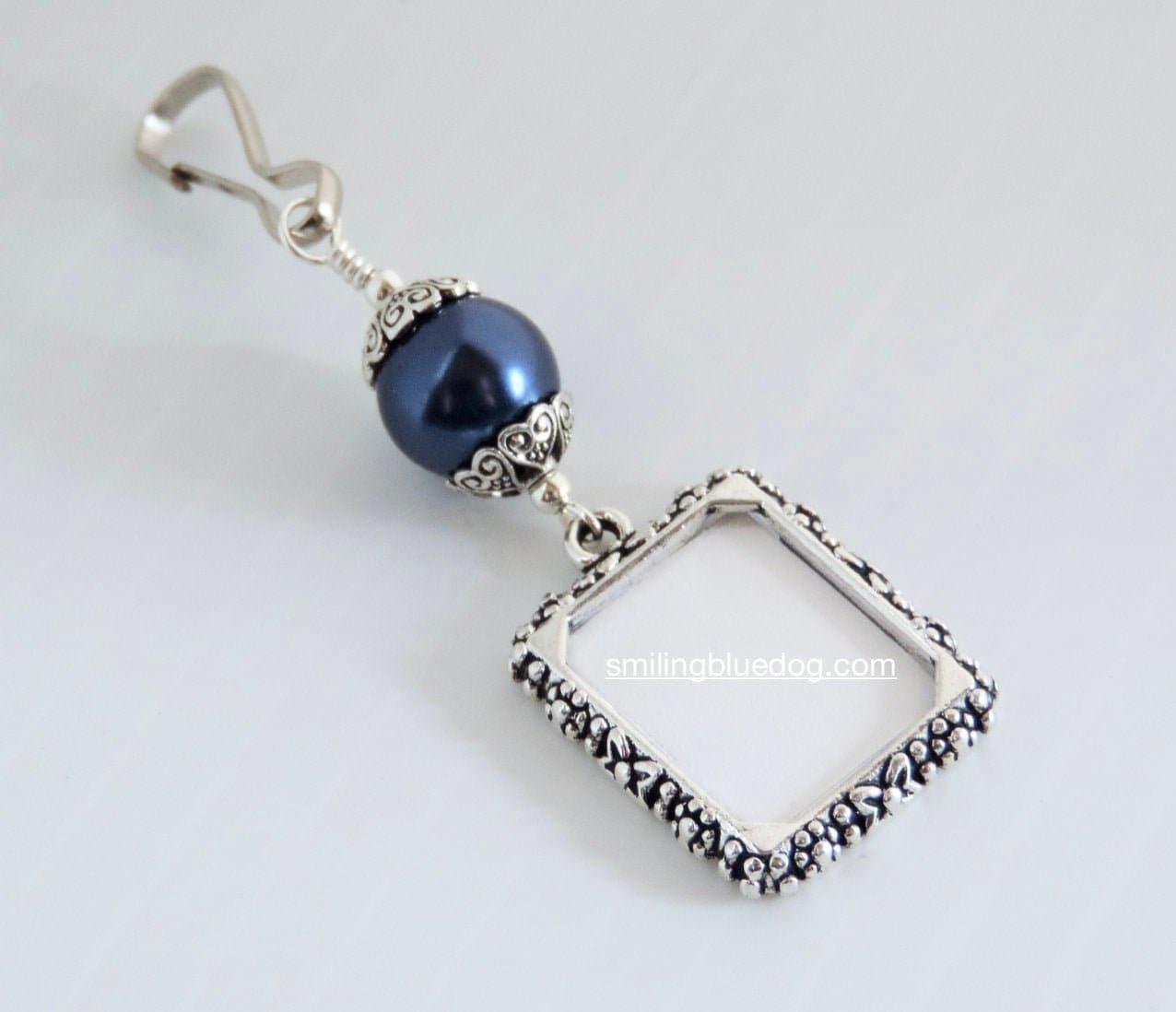 Custom Hand Stamped /& Hammered Edge Aluminum Bridal Wedding Bouquet Charm Something Blue Bouquet Charm
