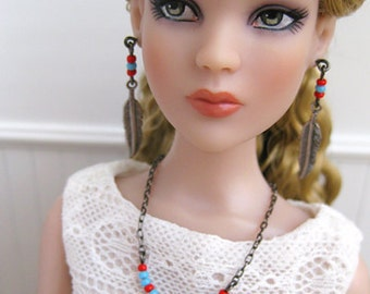 """Whimsical Earrings and Necklace for 16"""" dolls"""