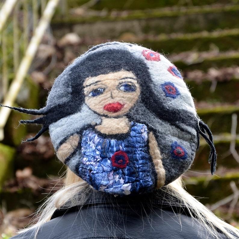 153982c121dcf Beret Hat Wool Beret Unique hat Slouchy Beret Designer hat