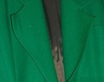 Robert Haik Emerald Green Wool Blazer  36