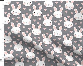 Cream Woodland Rabbits Cotton Fabric Kid/'s Easter Bunny Rabbit Fabric Easter Rabbit Cotton Fabric