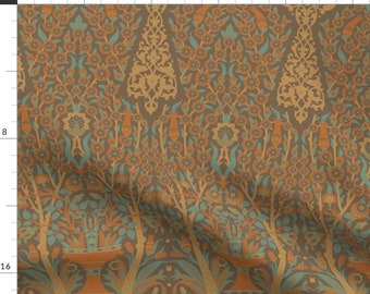 Snow Leopard SASL003 Iznik Serna Peridot Sateen Home Dec Fabric By Yd