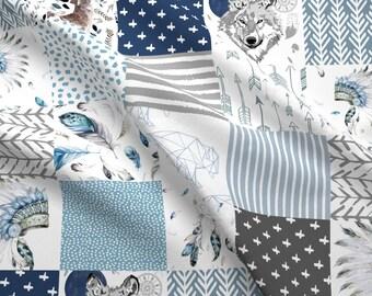 612edcd32735 Blue Wolf Cheater Quilt Fabric - 21