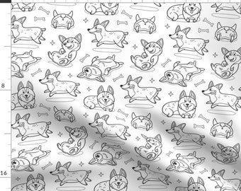 Coloring Book Fabric Etsy
