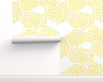 Yellow Wallpaper Etsy