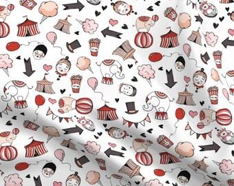 Circus Fabric Elephant Tent Clown Cotton Candy Benartex Under The Big Top ~ Yard