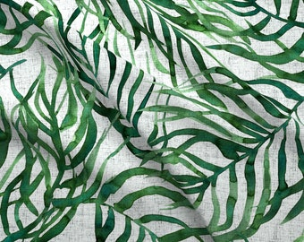 1c2e70e5775d Palm Leaves Fabric - Dark Palm Leaves On Canvas By Rebecca Reck Art - Tropical  Palm Leaves Decor Cotton Fabric By The Yard With Spoonflower
