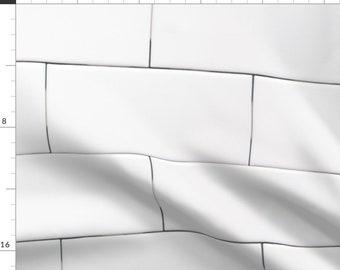 Tile  Bathroom Industrial Faux Tile Cloth Napkins by Spoonflower Kitchen Dinner Napkins Set of 2 - Subway Tile by littlerhodydesign