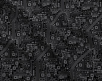 circuit board fabric etsy