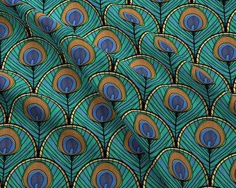 Peacock Fabric Etsy