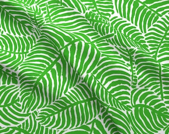 612aa2e066c5 Palm Fronds Fabric - Pure Palm By Theprimefloridian - Palm Fronds Tropical  Summer Greenery Leaves Cotton Fabric By The Yard With Spoonflower