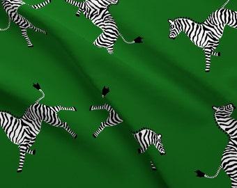 Riley Blake Safari Green /& Navy Blue Zebra Fabric FQ or More 100/% Cotton