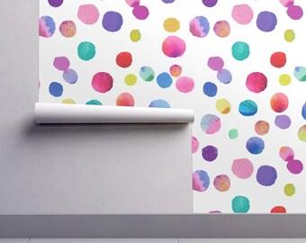 Watercolor Polka Dots Wallpaper