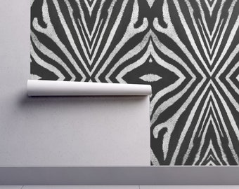 Zebra wallpaper | Etsy