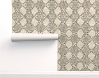 Tribal Wallpaper Shakami By Holli Zollinger Southwestern Geometric Custom Printed Removable Self Adhesive Wallpaper Roll by Spoonflower