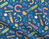 Crazy Arrows Fabric - Comfy Scattered Arrows Colorful By Lisanorrisartworks - Abstract Arrow Cotton Fabric By The Yard With Spoonflower